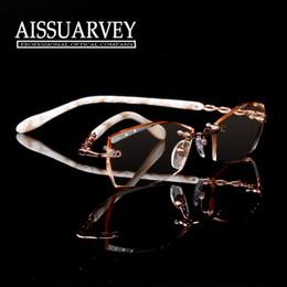 a5055b45133d71 2019 randlose designerbrillen Großhandels-Frauen Brille Rahmen optische  Mode Brillen Marke Designer Verordnung randlose Metall