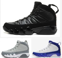 Wholesale Blue Statue - New classic 9 Anthracite black Copper Statue Baron Charcoal Johnny Kilroy blue Mens Basketball Shoes Cheap 9s IX Sneakers 7-13