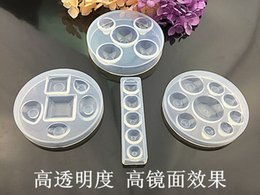 Wholesale Wholesale Craft Molds - 4Styles popular Crystal Glue Round Cabochon Moulds high transparency Silicone Mould Handmake Dome Craft DIYJewelry Tool