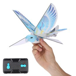 Wholesale Plastic Rc Planes - Wholesale- Mini Foam Anti-Crash RC Drone TECHBOY 98007+ 2.4GHz RC Bird Remote Control Authentic E-Bird Flying Bird Aircraft Plane RC Toys