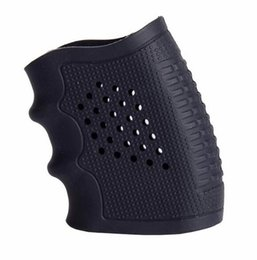 Wholesale Glove Covers - Tactical Pistol Rubber Grip Glove Cover Sleeve Anti Slip for Most of Glock Handguns Airsoft Hunting Accessories