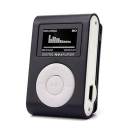 Wholesale Mini Clips Music - Malloom 2017 USB LCD Screen Slim Mini Clip MP3 Music Player Support 32GB Micro SD TF Card electronica #MA24