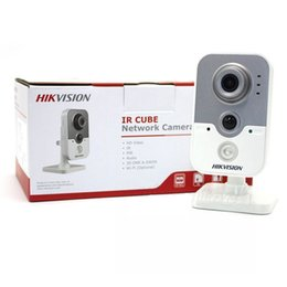Wholesale Pir Cctv - Original English Hikvision DS-2CD2442FWD-IW 120db 4MP POE WIFI PIR WDR CCTV Network IR IP camera IR baby monitor 2.8mm