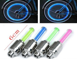 Wholesale Car Valve Box - Bicycle Car  motorcycle Tyre Wheel Neon Valve Firefly Spoke bike LED Lights Lamp with Retail box #Z196