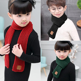 Wholesale Kids Scarf Red - New Baby Kids scarf winter girls boys warm scarf candy color for 1~7 years baby 10 p l