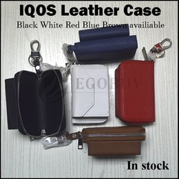 Wholesale Ego X - Wholesale IQOS leather case vape ego zipper carry cases carrying pouch pocket for qios dna200 dab istick pico ipv6x x-tc-3 18650 battery