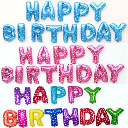 16 Zoll Alles Gute Zum Geburtstag Brief Folienballons Set Kinder Partydekorationen Liefert Aluminium Ballon 13 Teile / los von Fabrikanten
