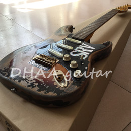 Wholesale Electric Guitars Relic - 10S Custom Shop Limited Edition Stevie Ray Vaughan Tribute - SRV Number One No.1 Relic Handmade Electric Guitar