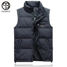 Wholesale Casaco Inverno Masculino - Wholesale- High quality 2016 vests of men asesmay fashion mens vest sleeveless denim jacket men colete de inverno casaco masculino coat