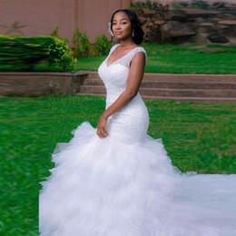 Wholesale Heavy Training Corset - Exquisite Heavy Beaded Mermaid Wedding Dresses Plus Size Real Photo V Neck Beading Sequins White Bridal Gowns Corset Bride Dresses 2017