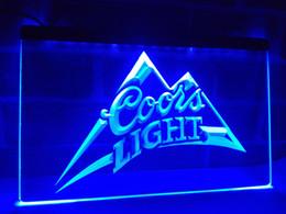 Wholesale Coors Light Neon Beer Signs - LA004b- Coors Light Beer Bar Pub Logo LED Neon Light Sign
