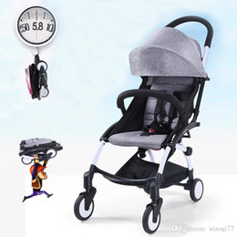 Wholesale Lightweight Prams Strollers - 8 gift aiqi Folding baby stroller hot Mom stroller portable pram lightweight stroller european baby carriage