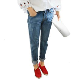 Wholesale New Style Trousers For Women - Wholesale- 2017 New Fashion Autumn Style Women Jeans Elastic Harem Denim Pants Jeans Slim Vintage Boyfriend Jeans for Women Female Trousers