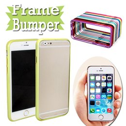 Wholesale Bumper Iphone Aluminum Red - Aluminum Metal Hard Case Slim Ultra Thin Frame Bumper For iPhone 7 6 6S Plus 4.7 5.5 inch 5 5S Galaxy S4 S5 S6 Note 3 4 Free Ship MOQ:10pcs