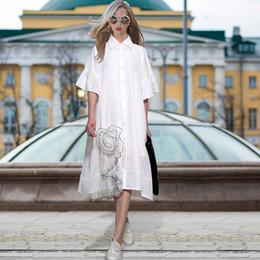 Wholesale Dress Flower Casual - Han edition dress 2017 summer new easing three-dimensional flowers gauze splicing short-sleeved shirt dress is 2297