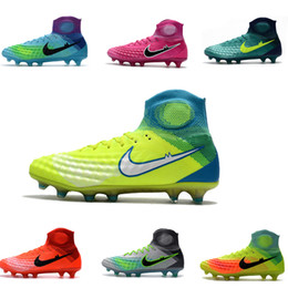 Wholesale Men Acc - 2017 Newest Magista Obra Men's and Kid's Football Boots With ACC Mens Man Sneakers Soccer Cleats Soccer Boots Football Shoes Children Shoes