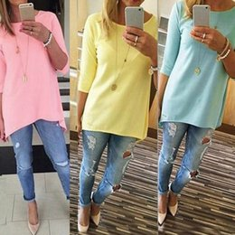 Wholesale Cheap Cotton Tees - Wholesale- New 2016 Fashion Women Summer Half Sleeve Loose T Shirt Cotton Femme Tops Casual Tee Shirts camisetas mujer Plus Size Cheap Z1