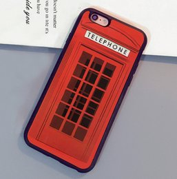 Wholesale London Iphone Case 4s - Red London Telephone Booth Printed Luxury Mobile Phone Cases For iPhone 6 6S Plus 7 7 Plus 5 5S 5C SE 4S Soft Rubber Cover Shell