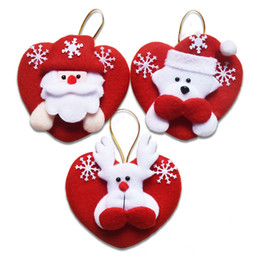 sd puppen Rabatt Weihnachten Mixed 24 Teile / los Indoor Weihnachten Hängen Ornamente Dekoration Weihnachtsmann Schneemann Deer Puppe Anhänger für Wohnkultur Sd 27