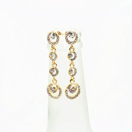 Wholesale Flower Diamond Nails - Bride Accessories Korea Ornaments East Beautiful Circle Fully-jewelled Eardrop Ear Nail 2015 Foreign Trade