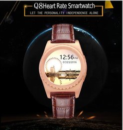 Wholesale Health Sport Watch Dhl - DHL New fashion Q8 smart watches round 1.54 inch screen with heart rate movement health Bluetooth 3.0 music sport watch for xiaomi huawei