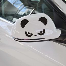Wholesale Panda Car Sticker - Wholesale HI Panda Car sticker rearview mirror converted cartoon car stickers decoration Funny Car Sticker 3D