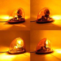 Wholesale Emergency Strobe Magnet - Amber 12V Halogen Bulb Emergency Strobe Beacon Warning Flash Light Magnet Mount Free Shipping