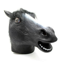Wholesale Latex Movie Stars - Christmas Halloween Mask All Kinds Of Characters Mask Trump Shell Kineve Black Horse Head Saw Theme Perfect Vizard Mask