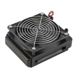 Wholesale Computer Water Radiator - Wholesale- Newest 120mm Water Cooling CPU Cooler Row Heat Exchanger Radiator with Fan for PC Wholesale And Hot Sale