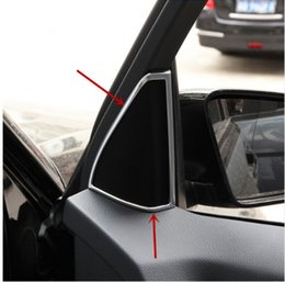 Wholesale Wholesale Audio Horns - Interior Door Stereo Audio speaker frame decoration trim panel For Mercedes Benz GLK260 200 300 Tweeter horn decal ABS strips