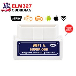 Wholesale Elm327 Obdii Wifi - High quality ELM 327 WIFI V1.5 OBDII OBD2 Auto Scanner Tool Support Android & IOS System ELM327 Wifi Support OBD II Protocols