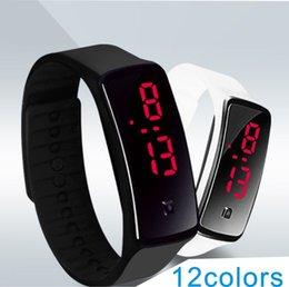 Wholesale Silicon Sport Wristwatch - christmas promotion products Newest fashion sport watch soft silicon LED screen digital watches wristwatch Bracelet 12colors