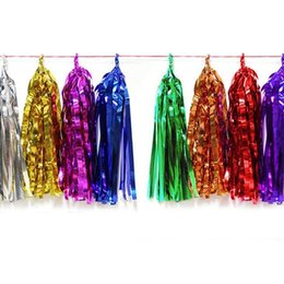 Wholesale Tissue Paper Garland Wholesale - Multicolored Tissue Paper Tassel Garland DIY Hanging Bridal Showers Wedding Engagement Parties Home Decors Free Shipping ZA4138