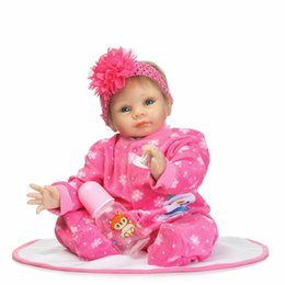 Wholesale Doll Silicone Child - 55 cm Silicone Reborn Dolls Soft Cloth Body Lifelike Reborn Babies For Girls Playhouse Toys Children Gifts Brinquedos