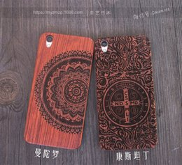 Wholesale Wood Pattern For Carving - Luxury Pattern Original Wood Carved Phone Case For Iphone 6 6S 7 PLUS Mobile Phone Cover Wooden Bamboo Shell For OPPO R9 PLUS