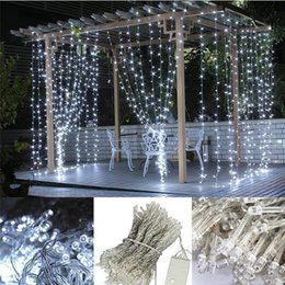 Wholesale Light Bulb Rope - 10M x 3M 1000 leds LED Curtain Light Decoration Christmas Fairy Festival Wedding Stage Light Lamp Bulb 10*3M String Strip Rope Lights String