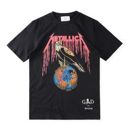 Wholesale T Shirt Men Music - Fear Of God205 T shirt Heavy Metal Black FOG T-shirts Rock Music Metallica Print Fashion Unisex Tees For Man S-XL