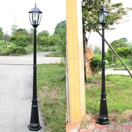 Wholesale Aluminium Castings - Wholesale- 222cm Waterproof Aluminium Die-casting Street Light Outdoor Landscape Lamp Never Rust Garden Yard Aisle Street Lights Black