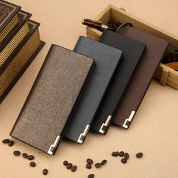 Wholesale Mens Luxury Wallet - Hot selling Leisure Dull Polish Long Design Mens Wallets Male PU Leather Bifold Luxury Card Holder Free Shipping