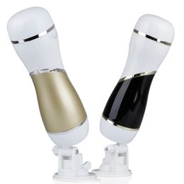 Wholesale Adult Toys For Men Vibration - MizzZee Masturbator for Man Rechargeable 12 Frequency Vibration Hands Free Male Masturbator Cup Sex Products Adult Sex Toys