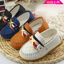Wholesale China Children Shoe Wholesalers - 2017 4 colors china factory shoes footwear for children cheap PU leather kids toddler boy shoes