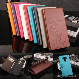 Wholesale Butterfly Process - Folding Folio Wallet PU Leather Protective Flip Stand Card Slots Case with Butterfly Flower Embossing Process for ASUS Zenfone 3 Max ZC553KL