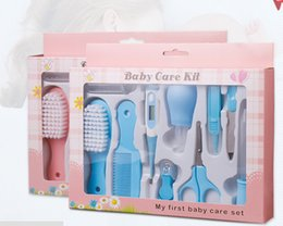 Wholesale Children Nail Scissors - wholesale 10pcs  setsMaternal and child neonatal nasal suction device feeding baby care sets nail scissors of baby electronic thermometer