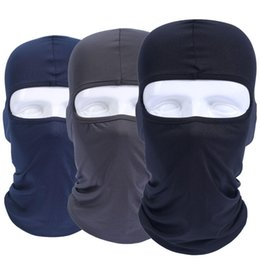 Wholesale Wholesale Airsoft Helmets - Balaclava Breathable Quick Dry Head Cover Tactical Military Army Airsoft Snowboard Helmet Liner Cap Hats Protect Full Face Mask