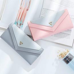 Wholesale Women S Card Holder - New Ladies Long Wallet Japan Korea Fashion Envelope Buckle Students Multi - Card Simple Women 's Purse Femal Clutch Zipper Bag