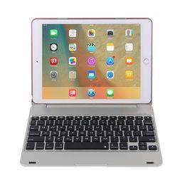 Wholesale Ipad Aluminum Alloy Wireless Bluetooth - hot sale tablet case aluminum alloy flip cover wireless Bluetooth keyboard case for ipad pro 9.7 air 2