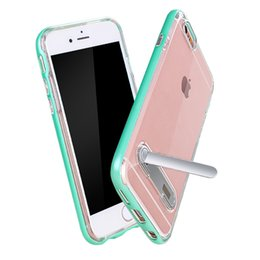 Wholesale Iphone 5s Armor Bumblebee - Transparent Bumblebee Clear Hybrid Armor Kickstand Case For iPhone 5 5S SE 6 6S 7 Plus Samsung S6 S7 Edge S8 A5 A7 J3 J5 J7 Prime 2017 US1