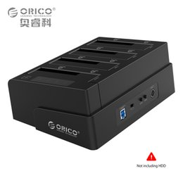 Wholesale Hard Drive Docking Stations - Wholesale- ORICO USB 3.0 to SATA 4 Bay External HDD Docking Station For 2.5&3.5 Inch HDD SSD 4bay Hard Drive HDD Duplicator Cloner Function