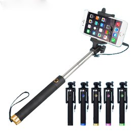 2019 cámara de teléfono celular negro Lujo plegable plegable Selfi Selfi Selfie Stick Monopod para Samsung Galaxy S5 Note3 iphone 6 5S Perche Selfies Selfiepod