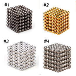 Wholesale Kid Puzzles Wholesale - magnetic cubes rubik cube 3mm 216pcs Neo Cube Magic Puzzle Metaballs Magnetic Ball With Metal Box Magnet Magic Toys